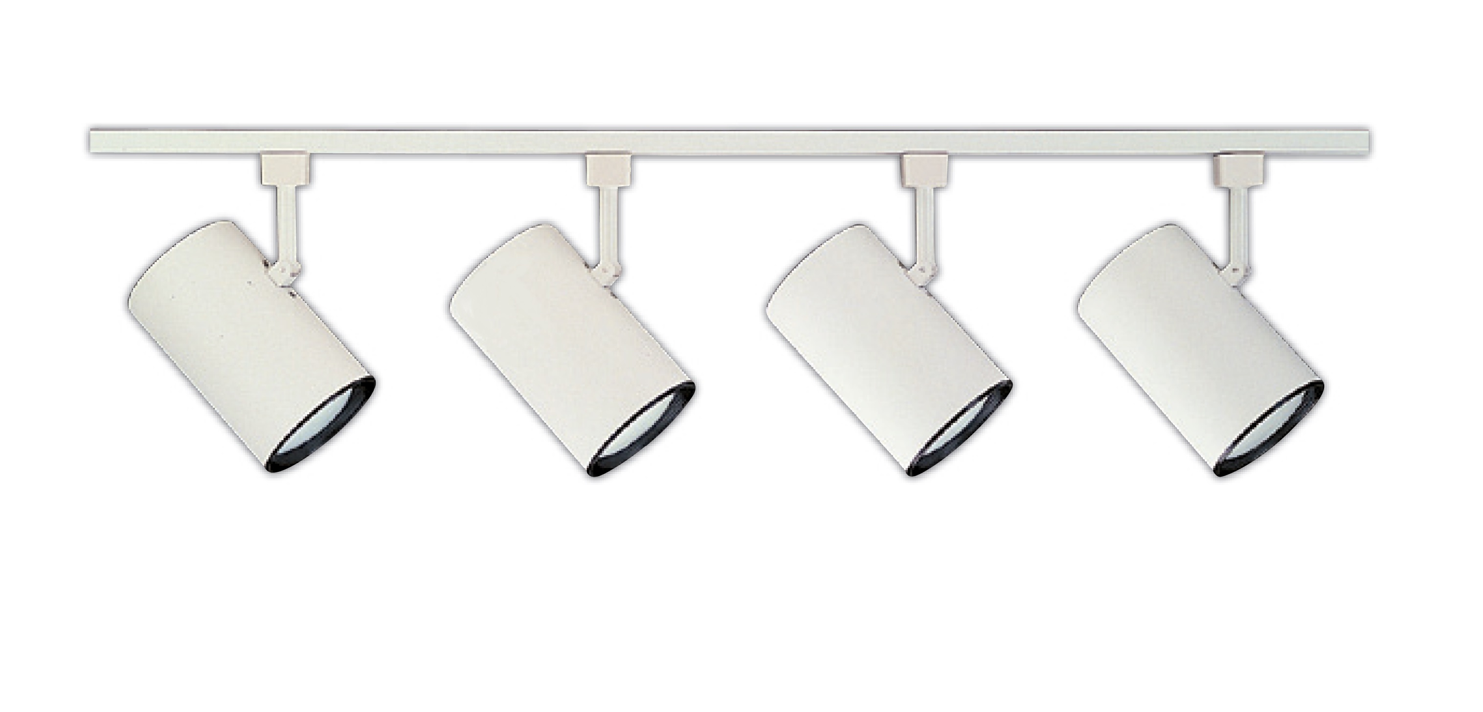 NICOR Lighting 4 Ft. 4-Light 75-Watt Linear Track Lighting Kit, White (10996WH4HEAD) by NICOR Lighting