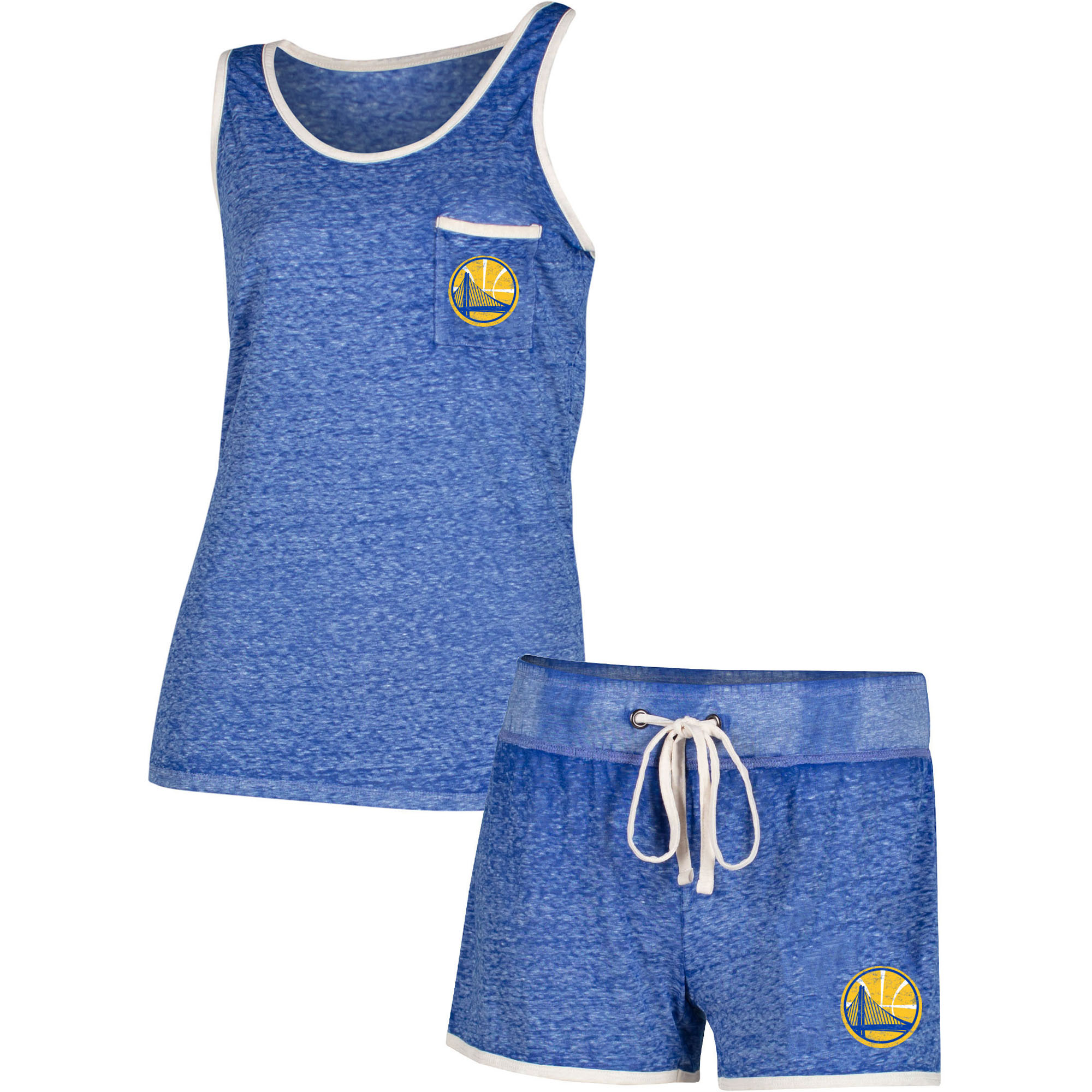 Golden State Warriors Concepts Sport Women's Squad Tank Top and Shorts Set - Royal