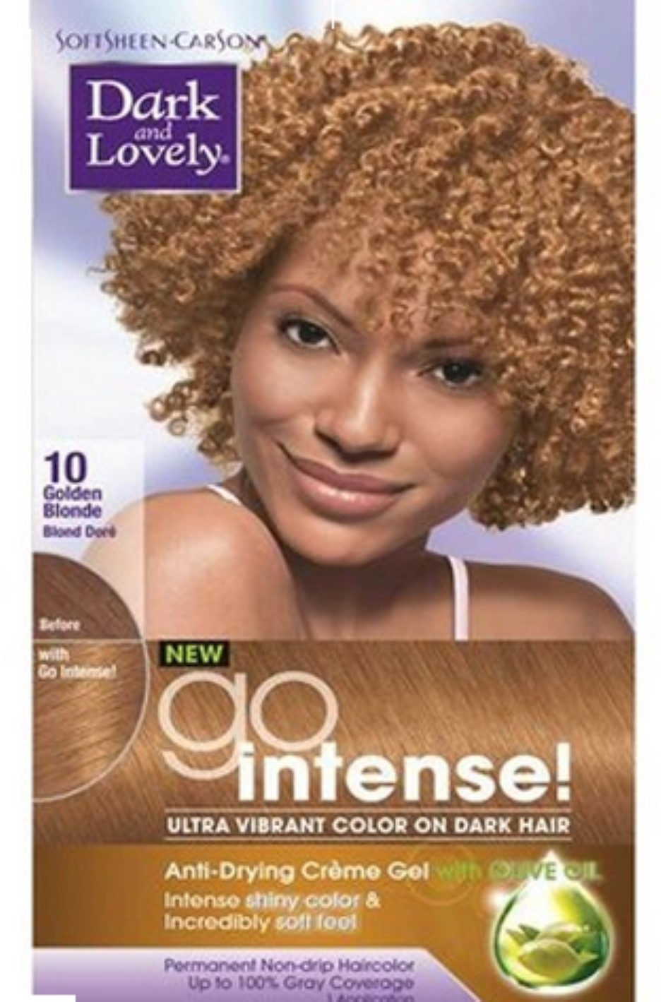 Dark And Lovely Go Intense Hair Color No 10 Golden Blonde 1 Ea
