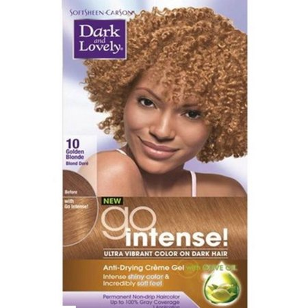 Dark and Lovely Go Intense! Hair Color No.10, Golden Blonde,  1 ea (Pack of