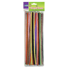 "Chenillekraft Jumbo Chenille Neon Pipe Cleaners - 12"" X 0.25""236.22 Mil - 100 / Pack - Assorted (7160-01)"