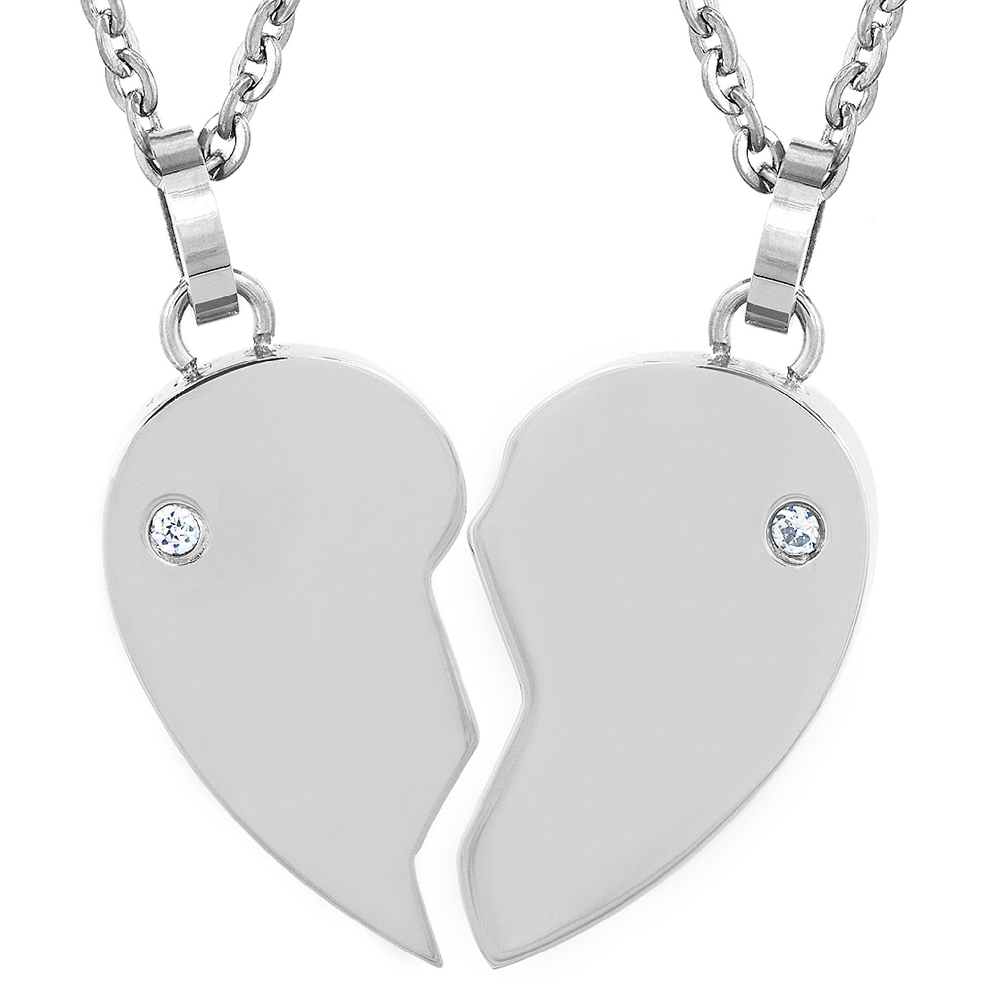 Image result for half heart necklace