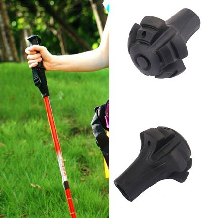 KABOER Outdoor Rubber Reinforced Tip End Cap Hiking Walking Stick Trekking Pole Useful