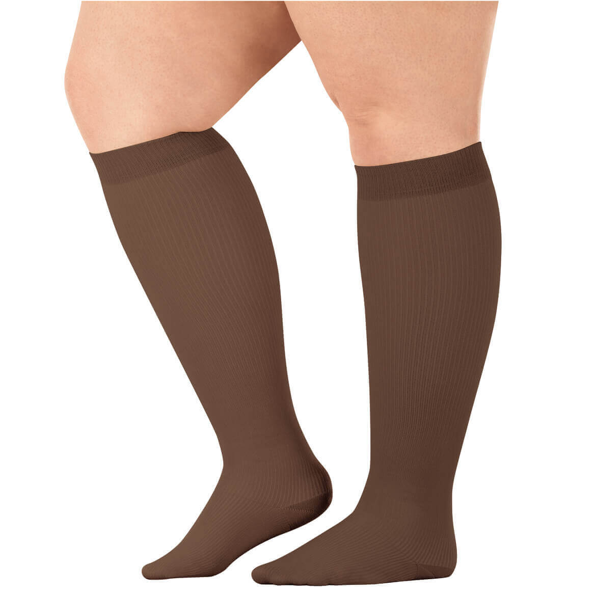 Silver StepsTM Wide Calf Compression Socks 8-15 mmHg, 3 Pair