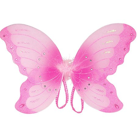 Costume Accessory Pink Sparkle Children Butterfly Wings ...