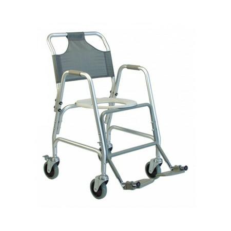 - Lumex Shower Transport Chair w/ Footrests Shower Transport Chair