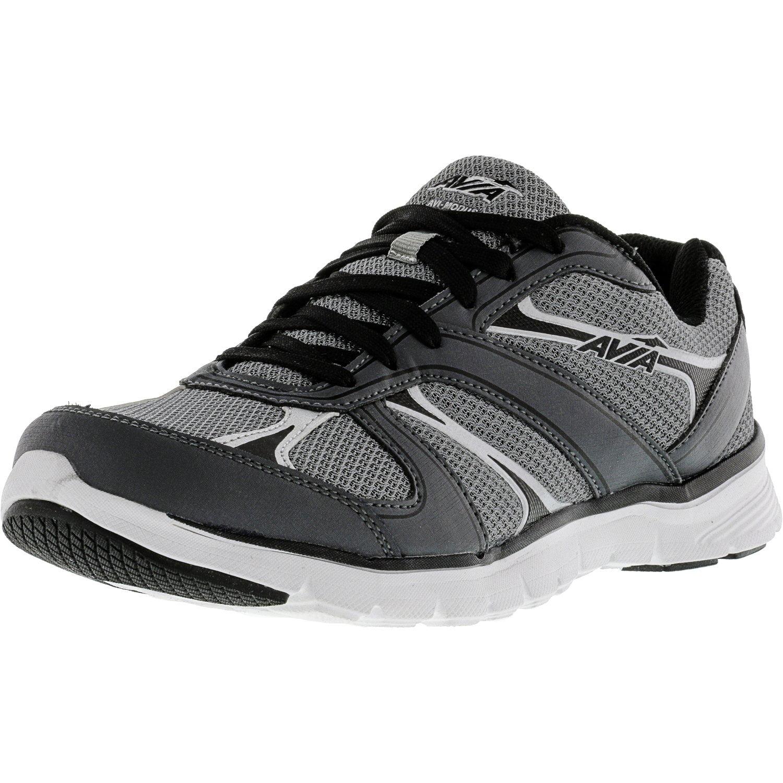 Avia Men's Avi-Modus Frost Grey   Iron Black Chrome Silver Ankle-High Running Shoe 9M by Avia