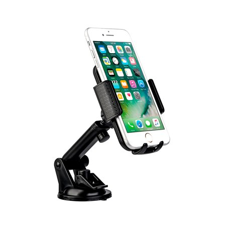 Smartphone Auto Accessories Dream Wireless Universal Dashboard Windshield Cell Phone Mount Holder with Adjustable Extension Arm ()