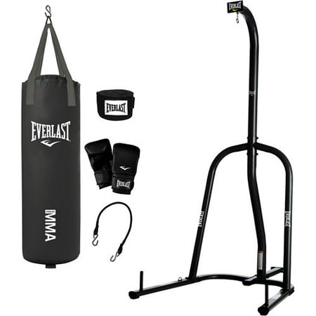 Everlast Single Station Heavy Bag Stand with your choice of 70-lb. Heavy Bag