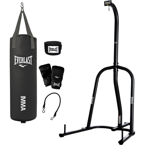 Everlast Single Station Heavy Bag Stand with your choice of 70-lb. Heavy Bag Kit
