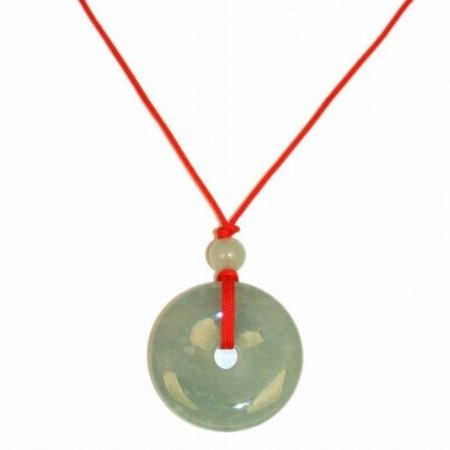 Chinese Jade Pendant Necklace (Fortune Coin)