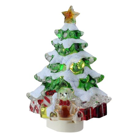 Christmas Tree With Presents.5 25 Snowy Christmas Tree With Presents Decorative Christmas Night Light