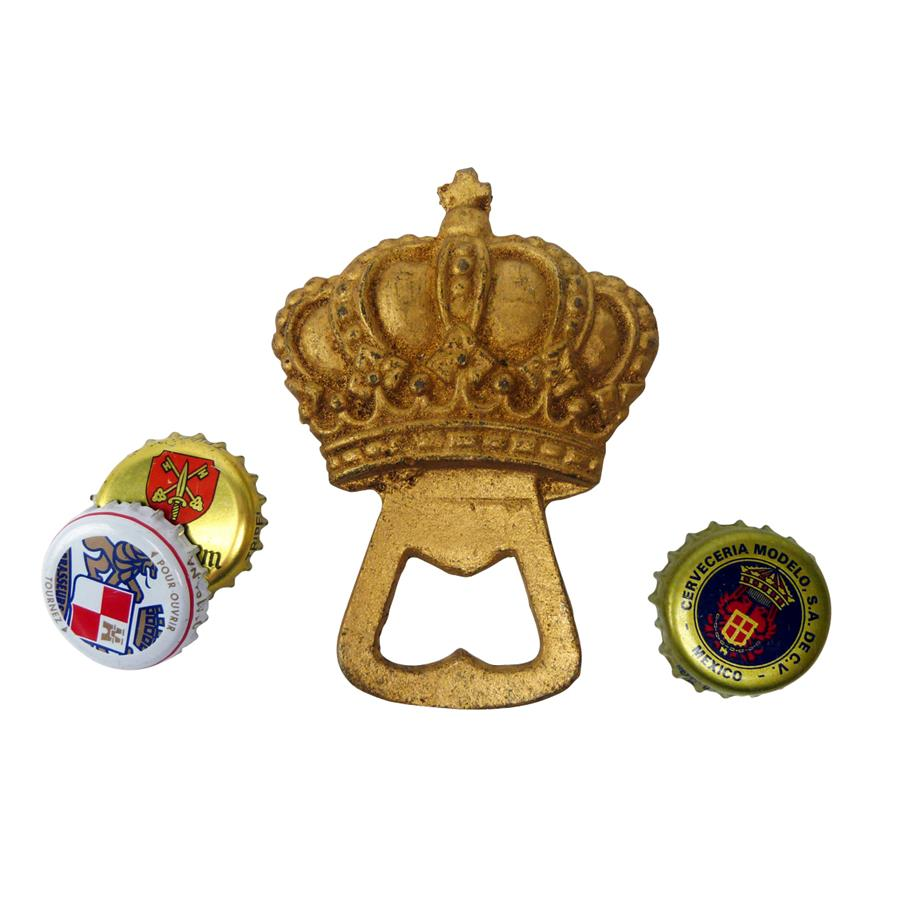 The King's Crown Cast Iron Bottle Opener: Set of Two