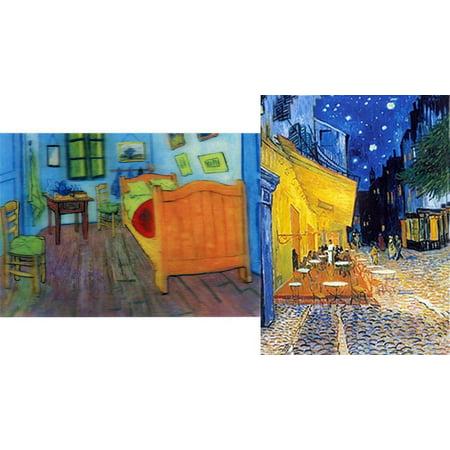 (Van Gogh: 2 Lenticular 3D Postcard Greeting Cards -