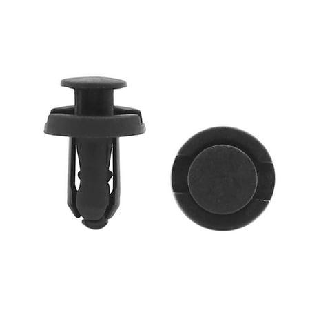 20 Pcs Black Plastic Door Screw Rivet Carpet Mat Clips Fits for 10mm Dia Hole