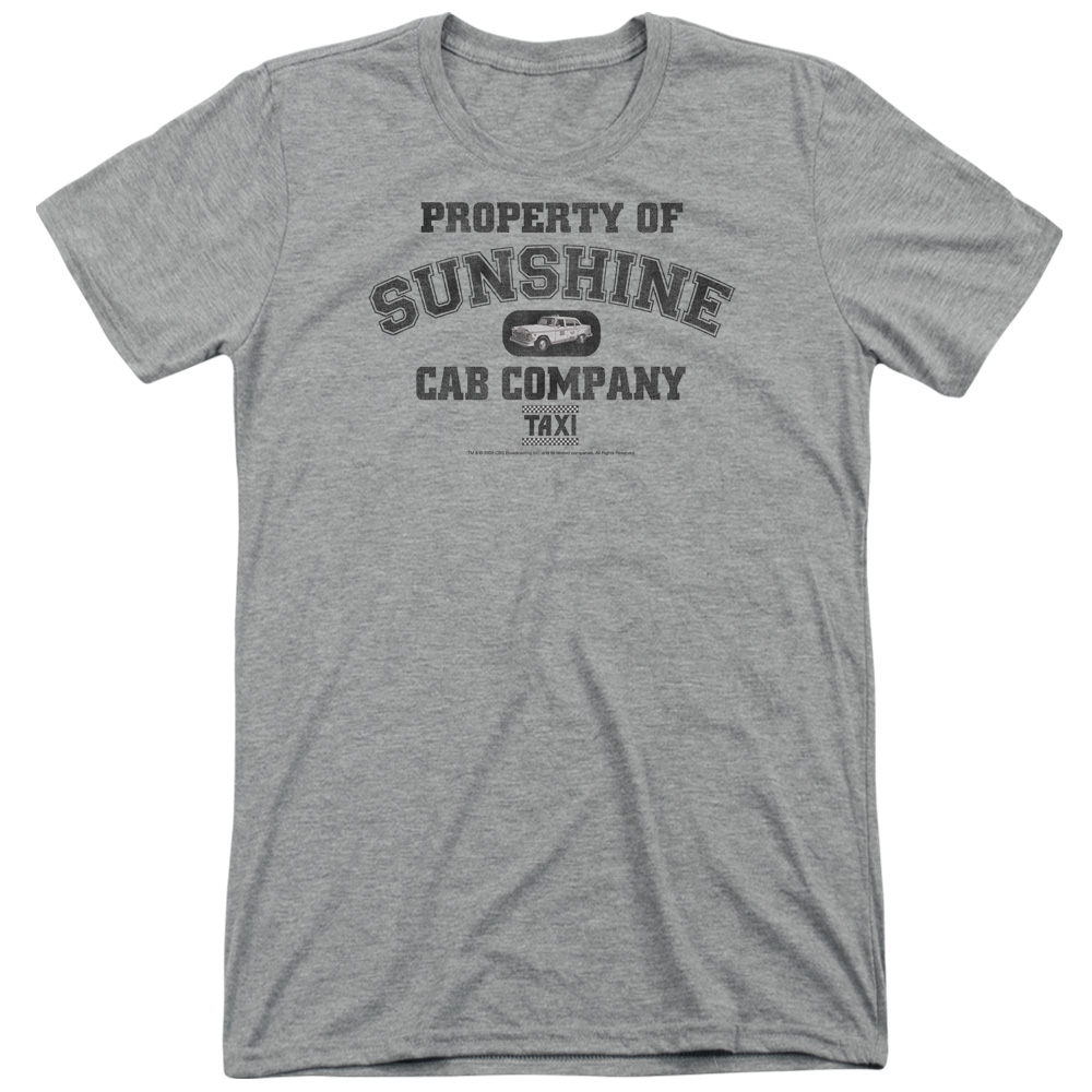 Taxi Property Of Sunshine Cab Mens Tri-Blend Short Sleeve Shirt