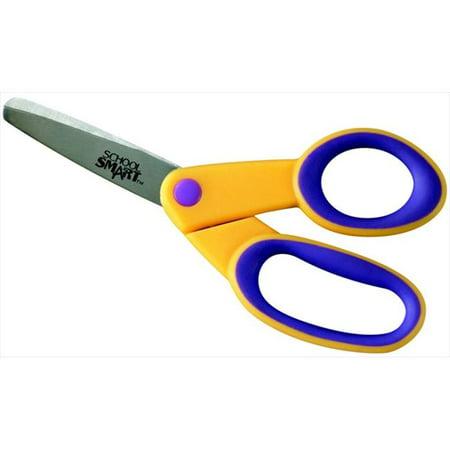 School Smart 084837 Blunt Tip Kids Scissor, 5 In, Stainless Steel Blade, Soft Overmold Grip Plastic Handle](Scissor Handles)