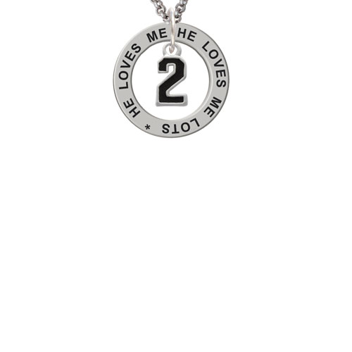 Black Number - 2 He Loves Me Affirmation Ring Necklace