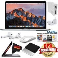 "Apple 13.3"" MacBook Pro (Mid 2017, Space Gray) MPXT2LL/A + Travel USB 5V Wall Charger for iPhone/iPad (White) + 7 Port USB Hub (White) Bundle"