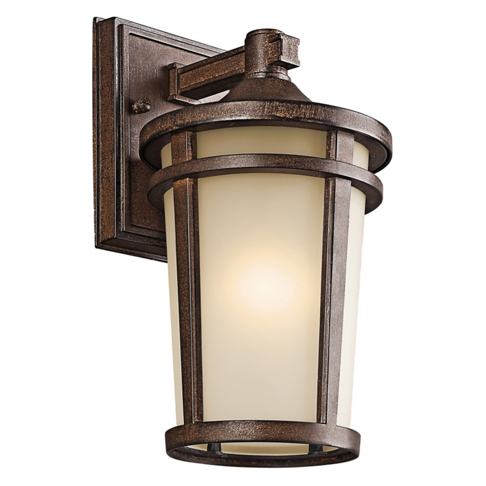Kichler Atwood 490 Outdoor Wall Lantern - Brown Stone