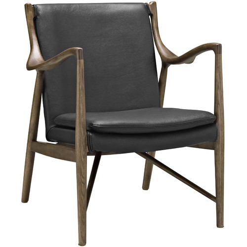 Modway Makeshift Leather Lounge Chair, Multiple Colors