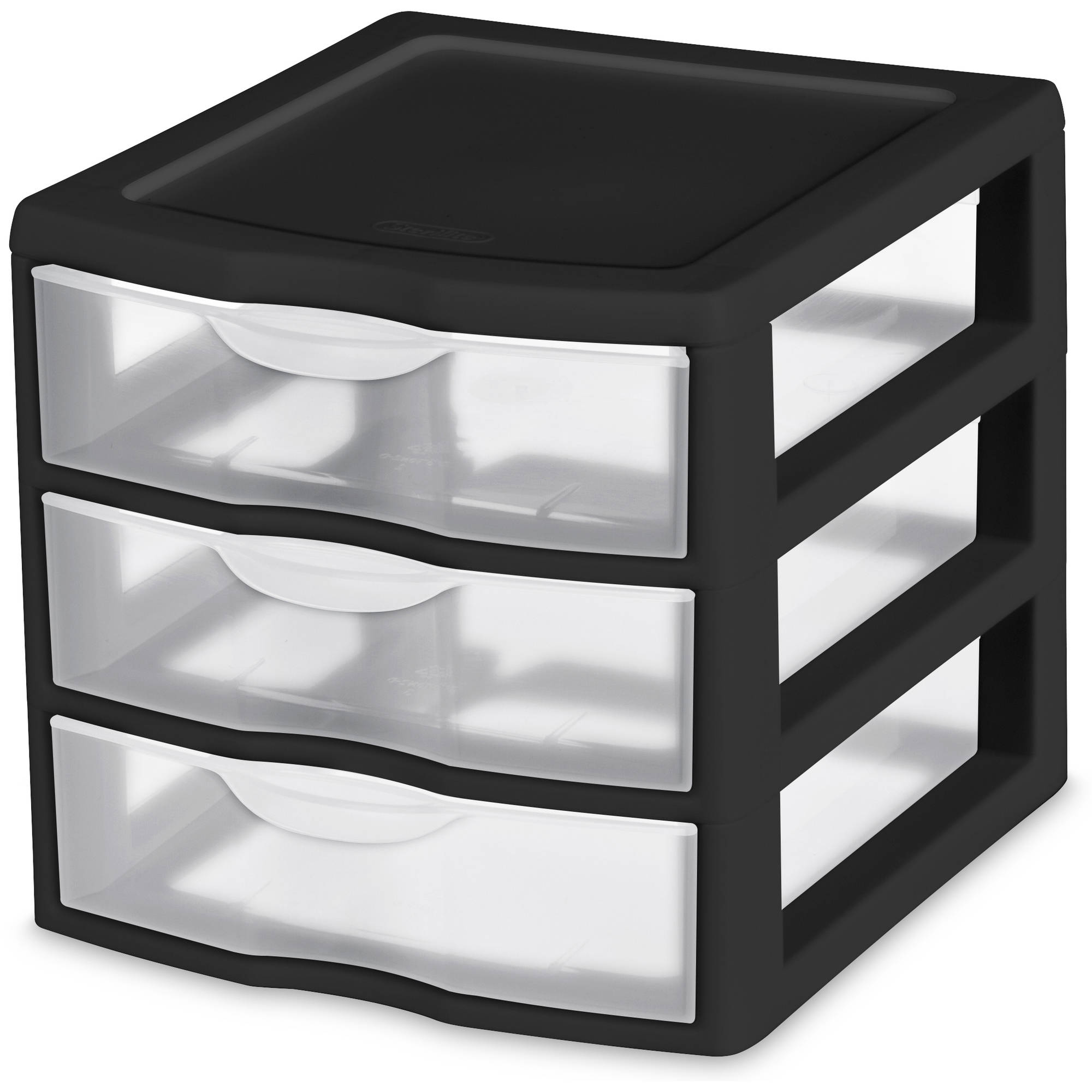 Sterilite Small 3 Drawer Unit- Black (Available in Case of 6 or Single Unit)