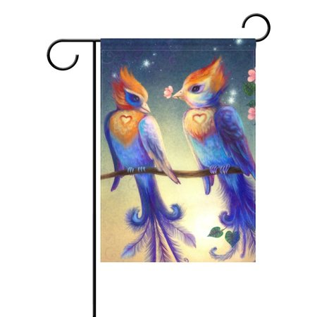 Love Birds Garden Flag - POPCreation Beautiful Love Birds Garden Flag Summer Ocean Sea Sunset 12x18 inches Outdoor Flag Home Party