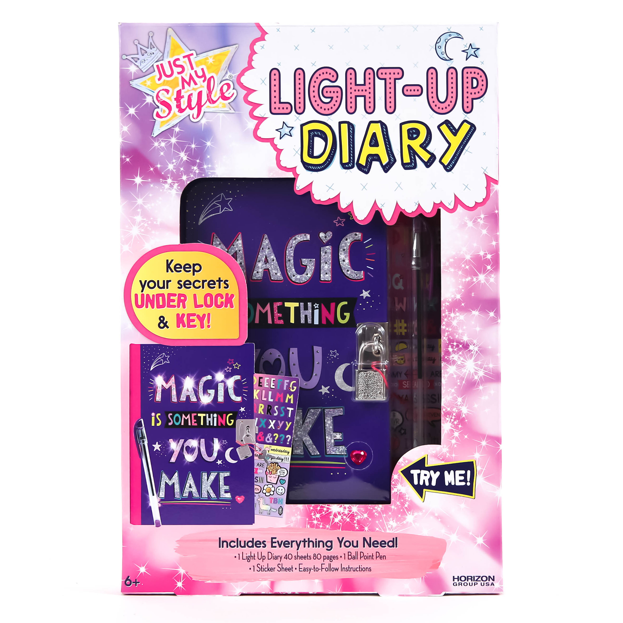 Just My Style Light-Up Diary by Horizon Group USA