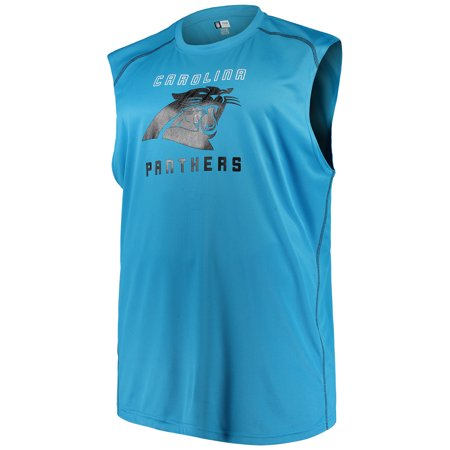 Men's Majestic Blue Carolina Panthers Big & Tall Endurance Test Muscle Tank Top - Carolina Panthers Funny
