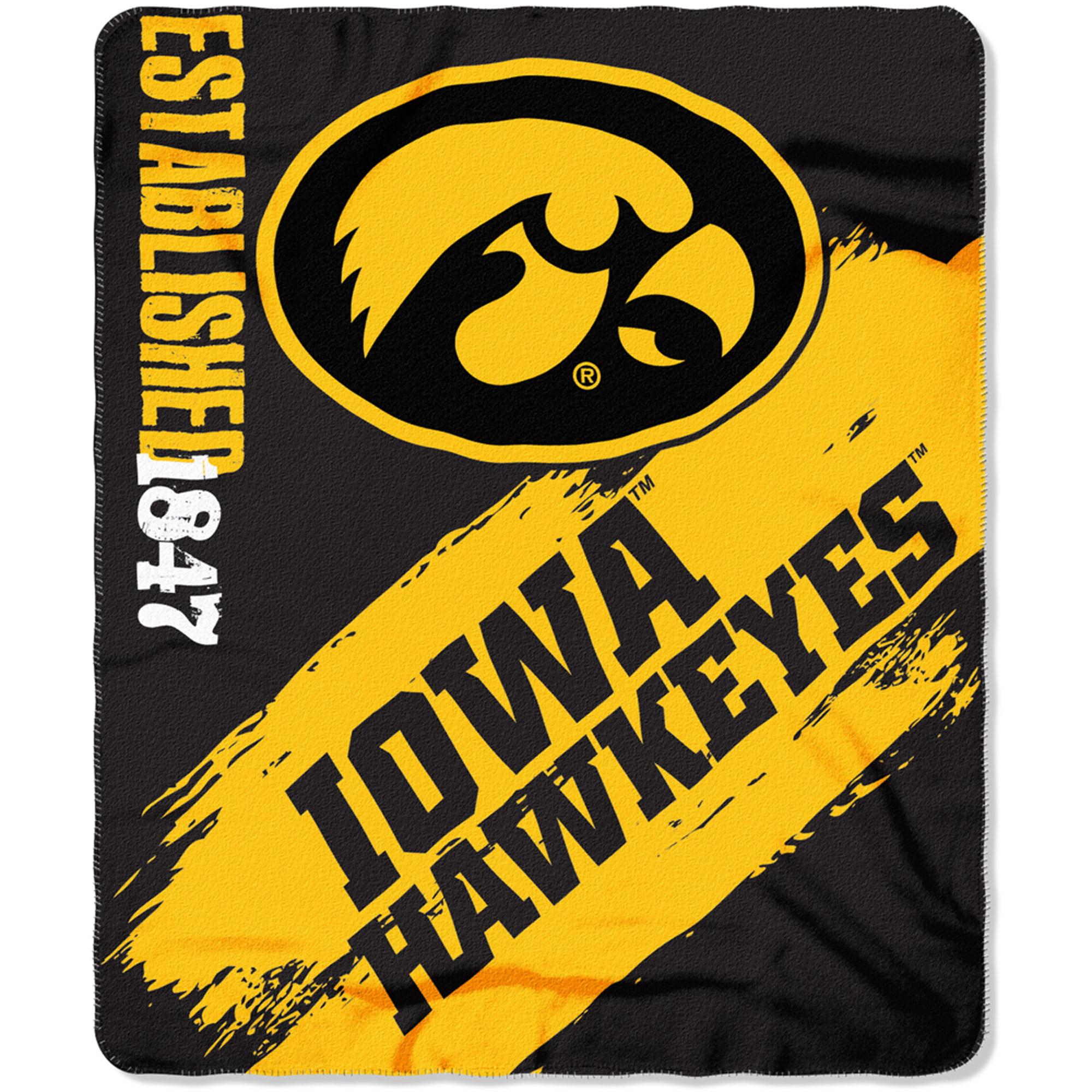 """NCAA Iowa Hawkeyes 50"""" x 60"""" Fleece Throw"""