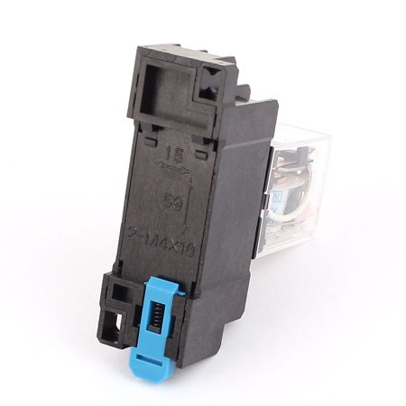 HH52P-L AC 12V Coil 8Screw Terminal 35mm DIN Rail Red Light Power Relay w Socket - image 1 of 3