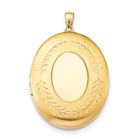 1/20 Gold Filled 34mm 2 Frame Oval Photo Pendant Charm Locket Chain Necklace That Holds Pictures Gifts For Women For Her