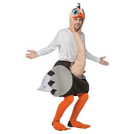 Ostrich Men's Adult Halloween Costume, One Size, (40-46)