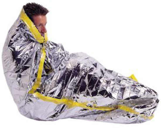 Emergency Survival Sleeping Bag Solar Thermal Camping Hiking Foil Pack 84x36 NIP by SONA ENTERPRISES