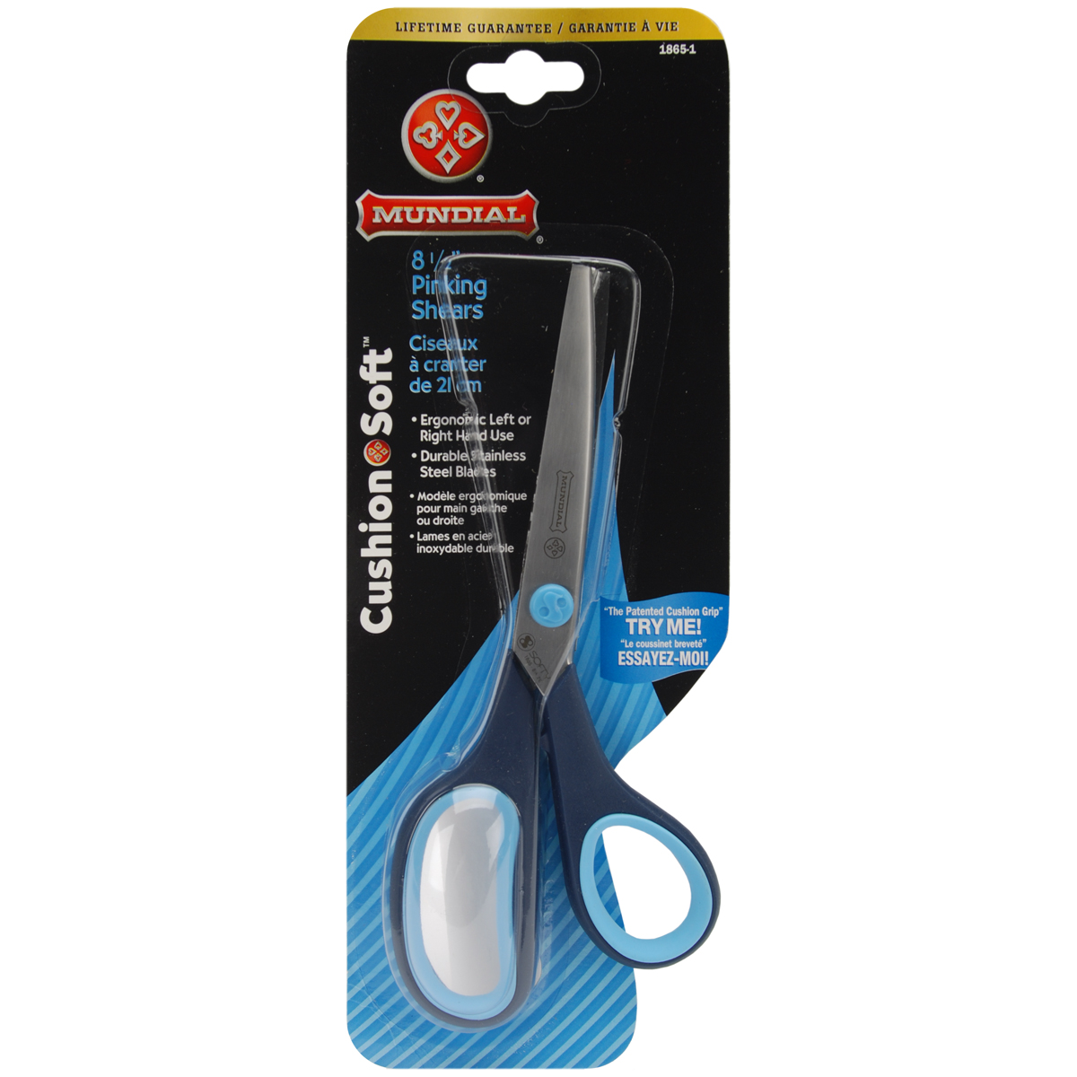 "Mundial Cushion Soft Dressmaker Shears 8.5""-Serrated Bottom Blade"