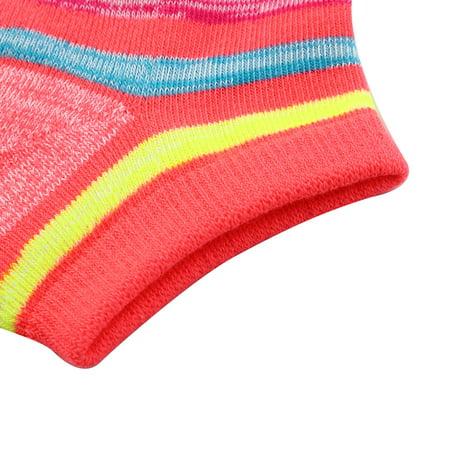 Boy Badminton Elastic Quarter Stockings Cushioned Sport Ankle Socks Pink Pair - image 3 de 5