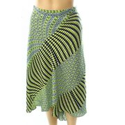 Laundry NEW Green Women's 14 Floral Printed Asymmetrical Skirt