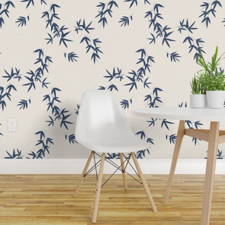 Peel and Stick Removable Wallpaper Botanical Minimalist Japanese Plant