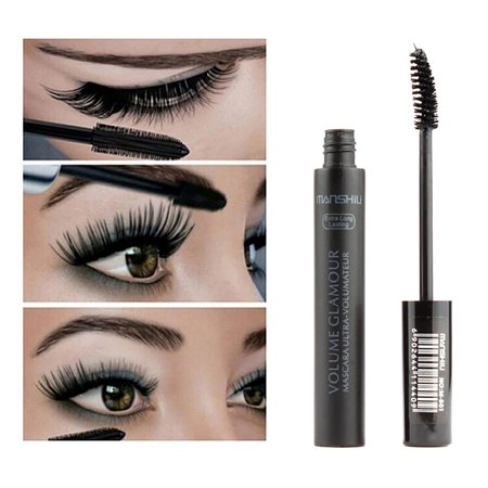Maquillaje De Mascaras Para Halloween (Waterproof Black Rimel Colossal Fiber Mascara Volome Curl Brand Maquillaje Eyelashes)
