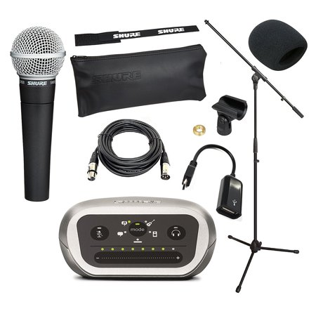 shure mobile ios android recording studio kit with shure. Black Bedroom Furniture Sets. Home Design Ideas