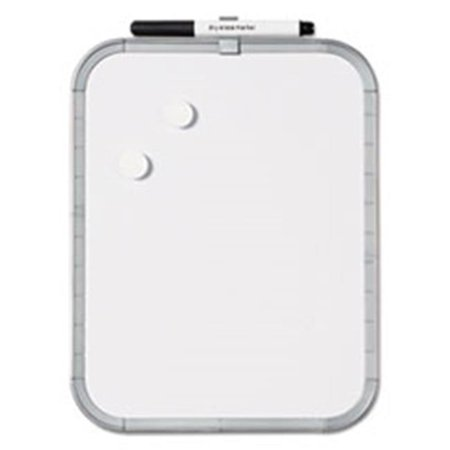 Bi-Silque Visual Communication Products CLK020303 Magnetic Dry Erase Board, 11 x 17, White Plastic Frame