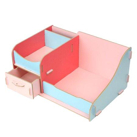 Desktop Colorized Cosmetic Organizer DIY Makeup Storage Box Case Wooden - Diy Desk Organizer