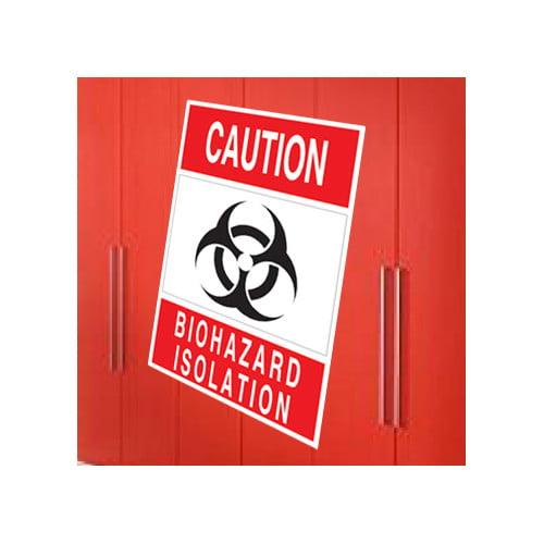 Wallhogs Biohazard Isolation Sign Wall Decal