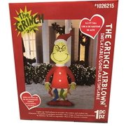 gemmy 6.5 ft grinch with stockings airblown lighted christmas yard inflatable outdoor holiday disaplay
