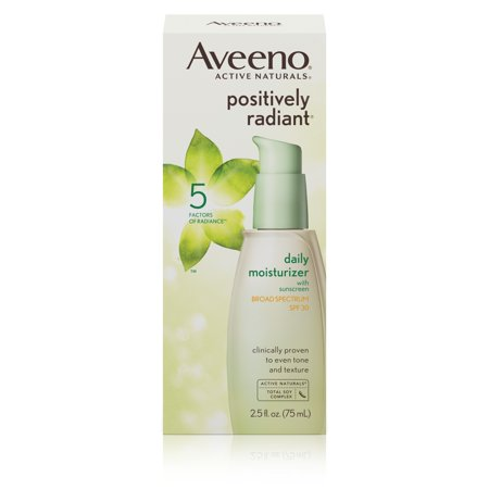 Aveeno Positively Radiant Day Lotion Face Moisturizer, 2.5fl oz, SPF 30