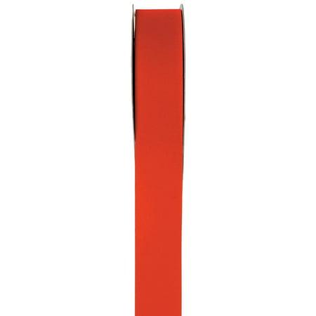 1.5 inch (#9) Flocked Velvet Poly Florist Ribbon: Red, 25