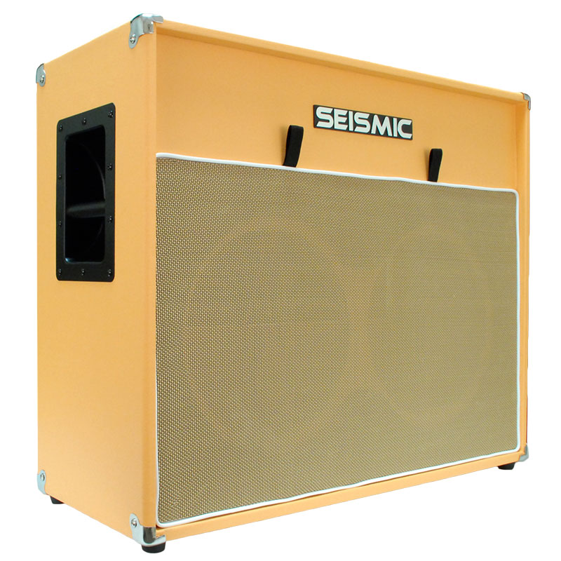 Seismic Audio 212 GUITAR SPEAKER CAB EMPTY Cabinet  ORANGE TOLEX 2x12 - Luke-2x12V_ORWH