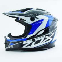 Zox Rush Pulse Jr Youth MX Offroad Helmet Blue SM