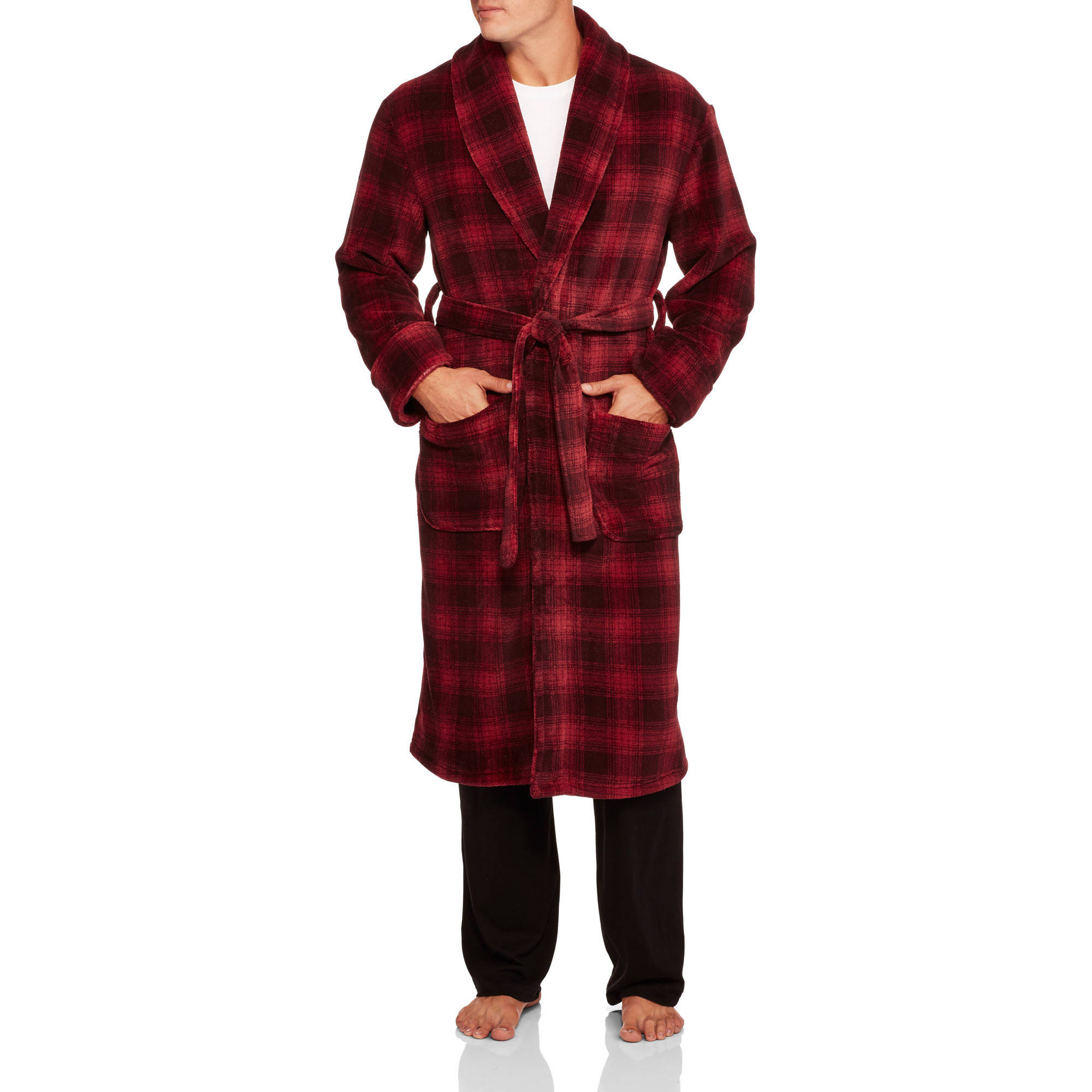 Max Deco Big Men's Printed Plush Robe