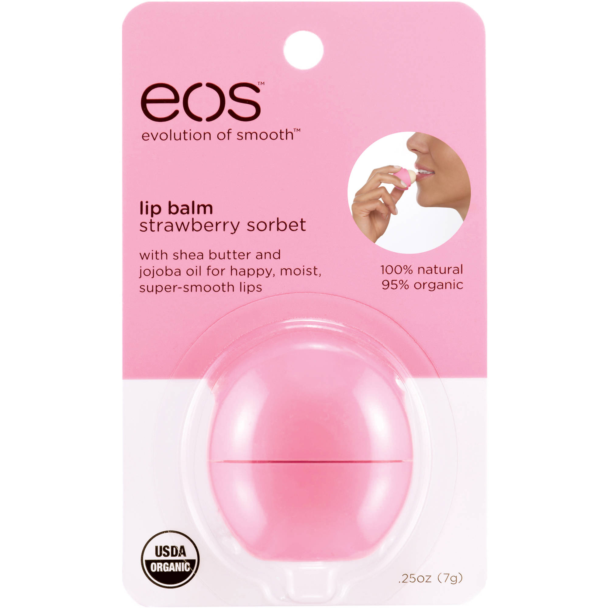 EOS Strawberry Sorbet Lip Balm, 0.25 oz